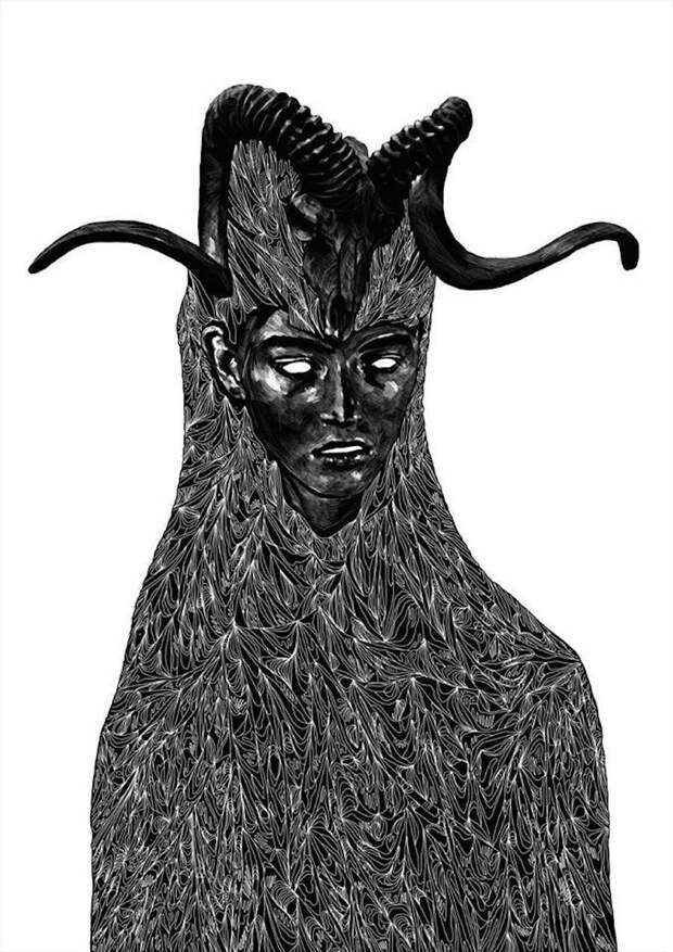 Ночные кошмары в черно-белых портретах