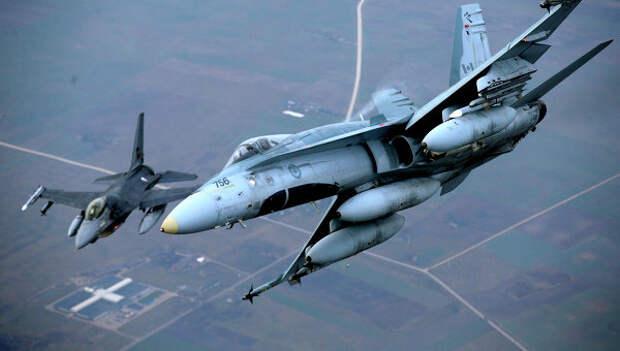 Самолеты НАТО в воздушном пространстве Литвы. Архивное фото.