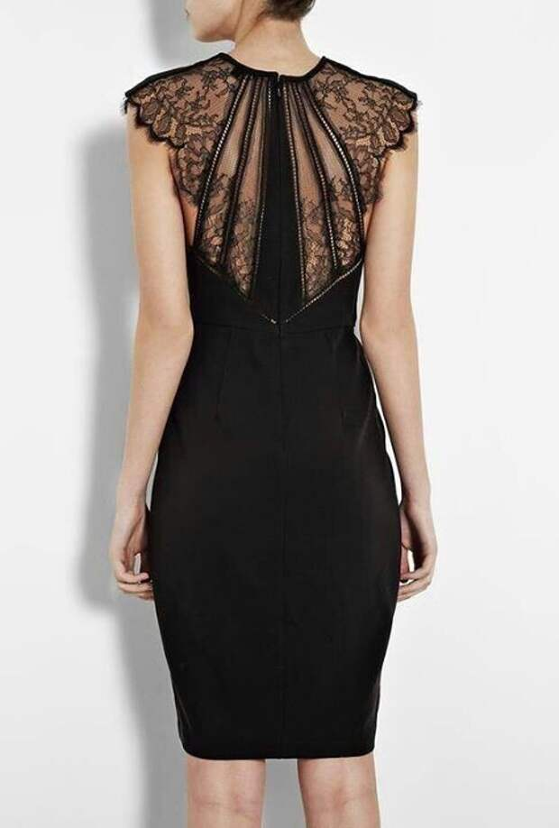 Нарядные спинки платьев