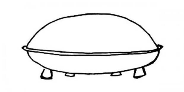 НЛО в Транс-ан-Провансе (рисунок очевидца)