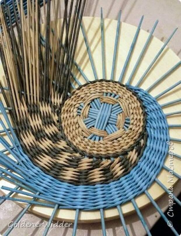 Мастер-класс Плетение Панно 40 см Спиральное плетение Бумага газетная Трубочки бумажные фото 13