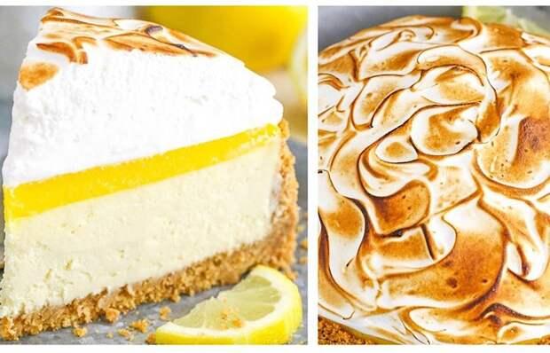 Восхитительно вкусный лимонный чизкейк с меренгой