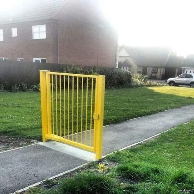 Прекратите уже архитектура, барьер, забор, непреодолимый барьер, ограждения, прикол, экстерьер, юмор