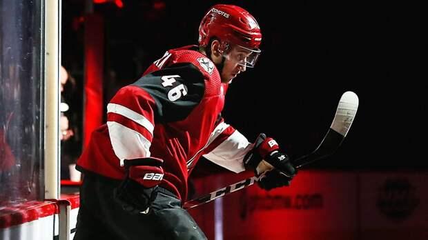 Жесткий удар головой в борт. Русского хоккеиста Любушкина отправил в нокдаун 107-килограммовый канадец Макдермид
