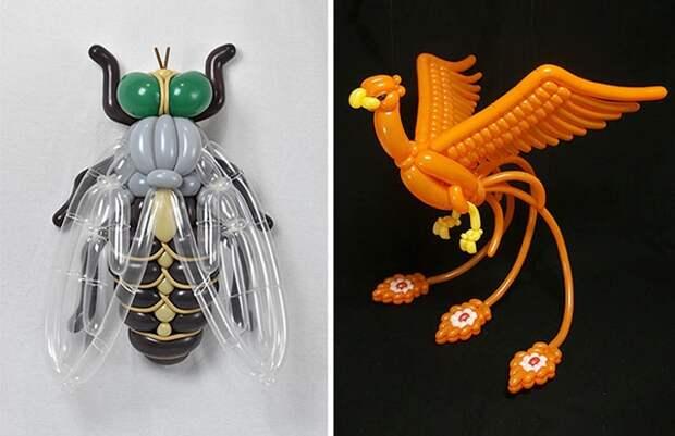 Мастер-класс от японского художника: создания мини-скульптур из воздушных шаров