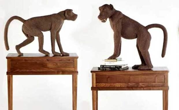 Поделки своими руками: вязанные скульптуры животных