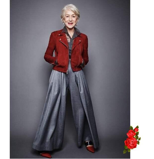 Как носить красный в возрасте 50+ и не смущаться