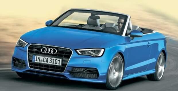 Audi A3: без шапки, но с шарфом