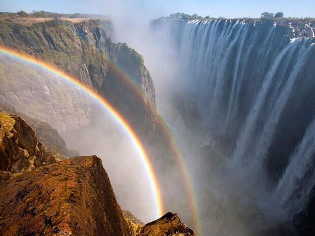 rainbow04 Радуга над самым большим водопадом в мире
