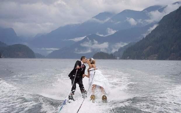 Действительно классное свадебное фото