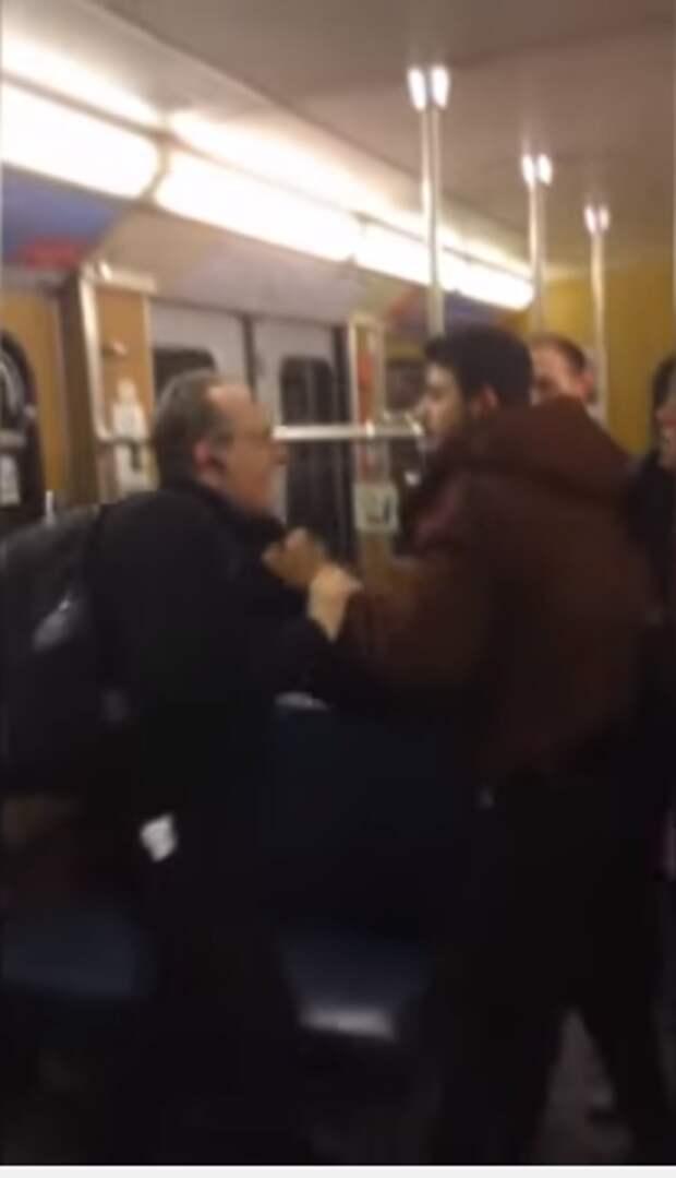 Озверевшие мигранты напали на пожилых немцев в метро (видео)