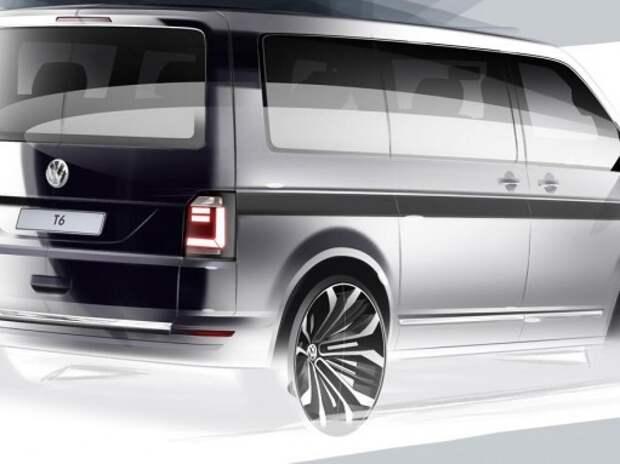 Новый Volkswagen Transporter T6 дебютирует 15 апреля