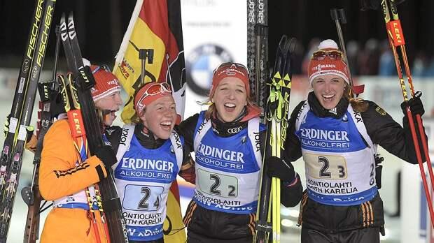 Отстали от бронзы на пару патронов Россиянки заняли четвертое место в эстафете