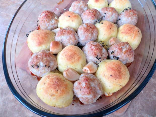23 шарика вкусного удовольствия в духовке! Еда, Рецепт, Картофельные шарики, Фрикадельки, Готовка, Другая кухня, Видео рецепт, Вкусно, Видео, Длиннопост
