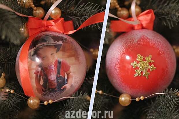 Оригинальные ёлочные шары своими руками