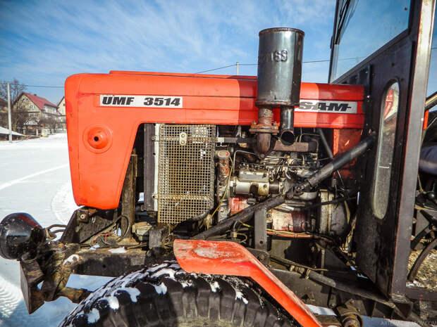 Двигатель поставили от трактора «Фергюсон»- 47, капот и фары от трактора «Урсус» С-330. самоделка, своими руками, трактор