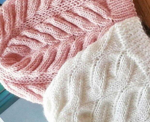 Схемы узоров для вязания шапочек