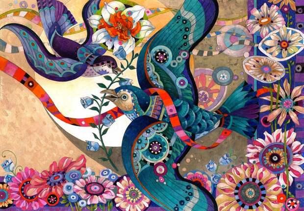 Devida Galchutt - декоративный батик