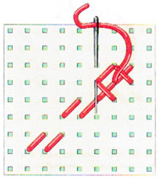 Вышивка крестиком по диагонали. Двойная диагональ слева направо (фото 10)