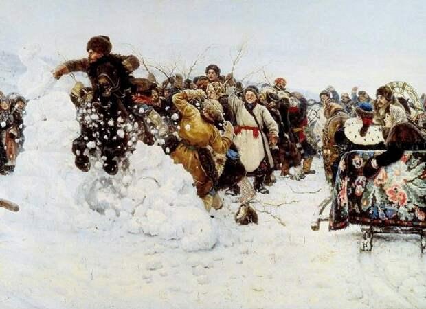Широкая Масленица: бои стенка на стенку и другие народные забавы на картинах русских художников