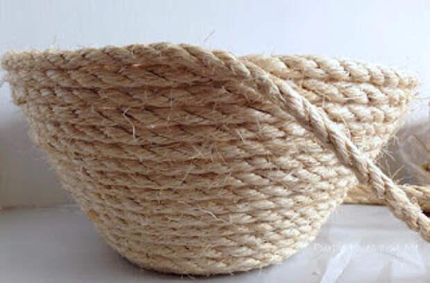 Корзинка с крышкой своими руками из сизалевой веревки (6) (320x211, 79Kb)