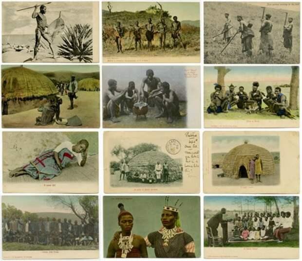 Этнические колониальные открытки.