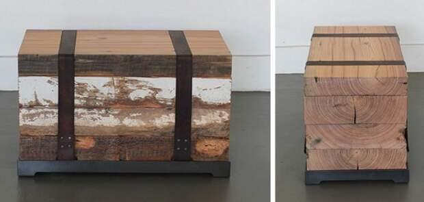 Винтажные деревянные предметы в интерьере
