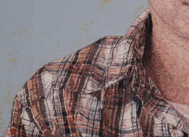 Портреты нарисованные нитками. Художественная вышивка Кейси Завалья