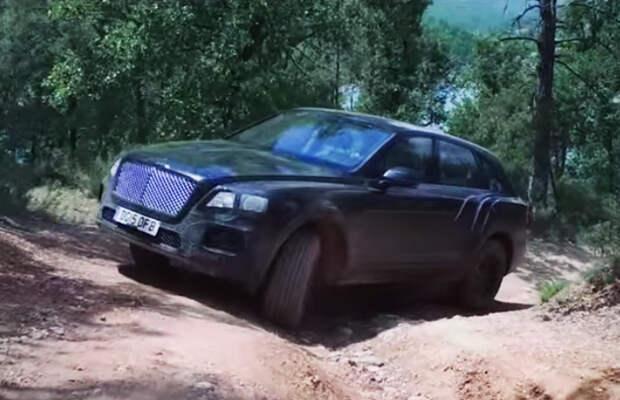 Первый кроссовер Bentley испытали на бездорожье