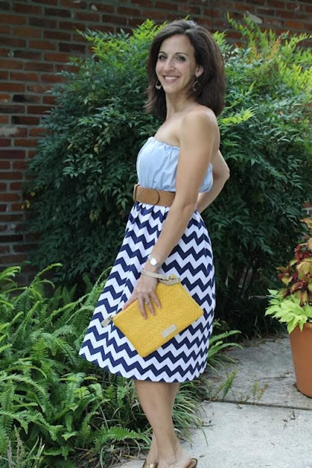 Не тривиальный способ переделать рубашку в очаровательное платье