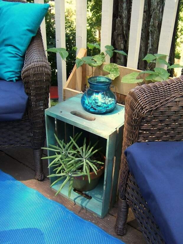 Также ящикам можно придать эстетический вид при помощи краски и использовать их как журнальный столик дизайн, креатив, своими руками