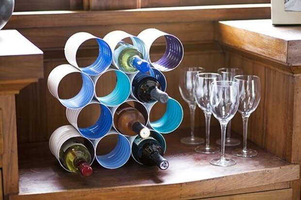 Держатель для винных бутылок (Diy)
