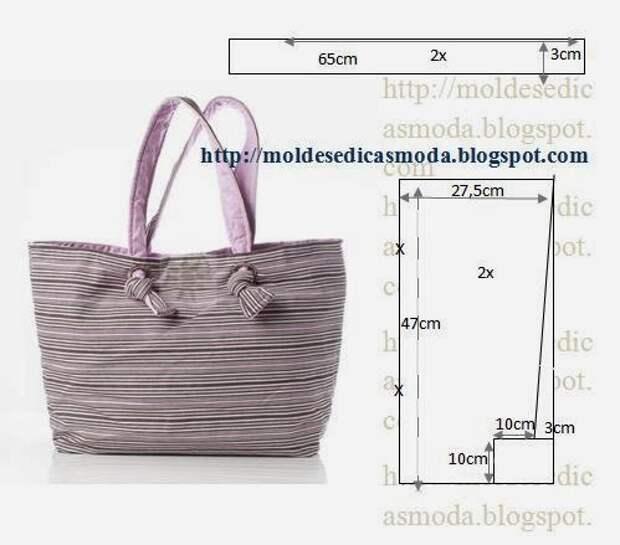 Идея (и выкройка) для сумки