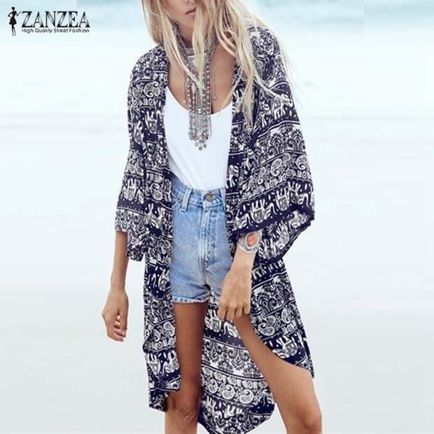 Как интересно и стильно носить лёгкую накидку летом. Многослойный образ.