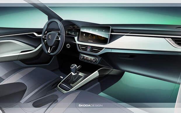 Skoda показала интерьер своей новой модели