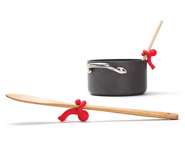 14. Этот маленький помощник подержит лопаточку за вас готовка, кухня, советы