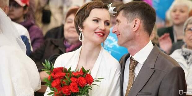 Около 3,5 тысяч пар с начала года поженились на необычных площадках Москвы