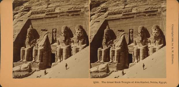 Абу-Симбел. Колоссы Великого храма. 1898
