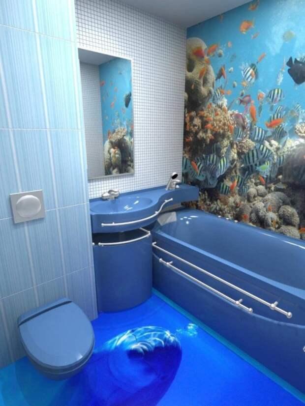 Поразительный 3D дизайн ванных комнат. Ты захочешь устроить такое у себя дома…