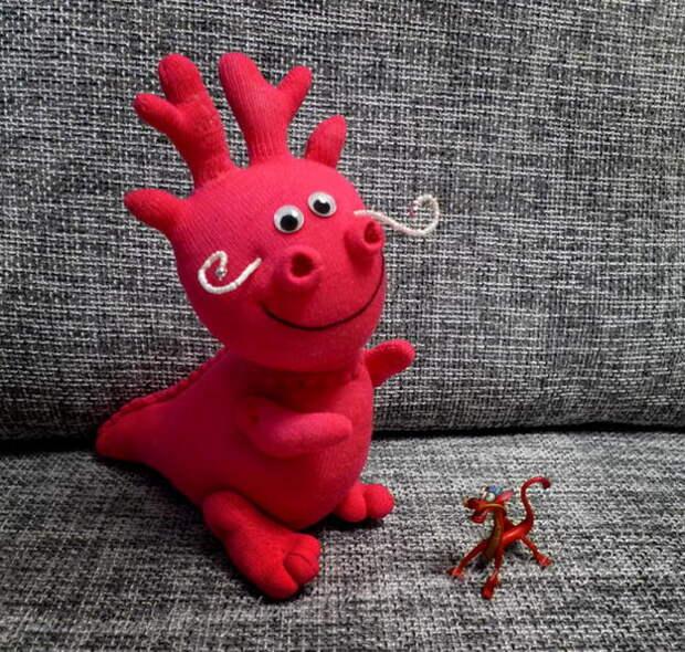 Картинка забавный дракончик из косков своими руками
