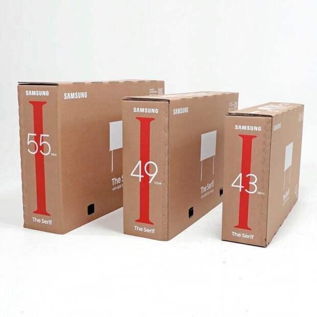 Как устроена коробка от телевизора Samsung, из которой можно сделать кошачий домик