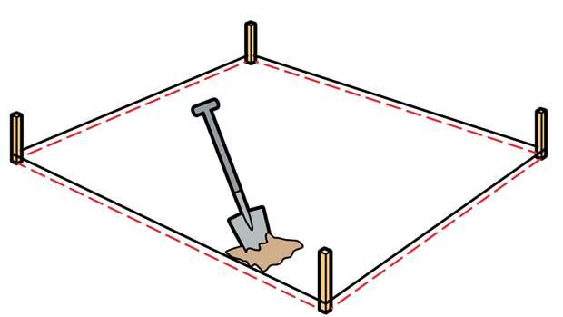 Роем яму под песочницу