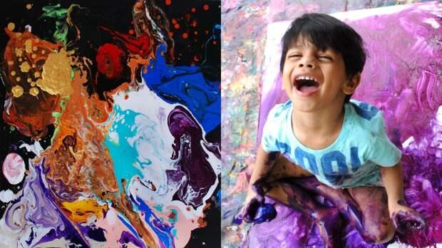 Всю душу в холст вложил: 4-летний вундеркинд из Индии, чьи картины стоят тысячи долларов