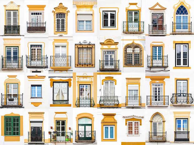 Коллажи дверей и окон André Gonçalves