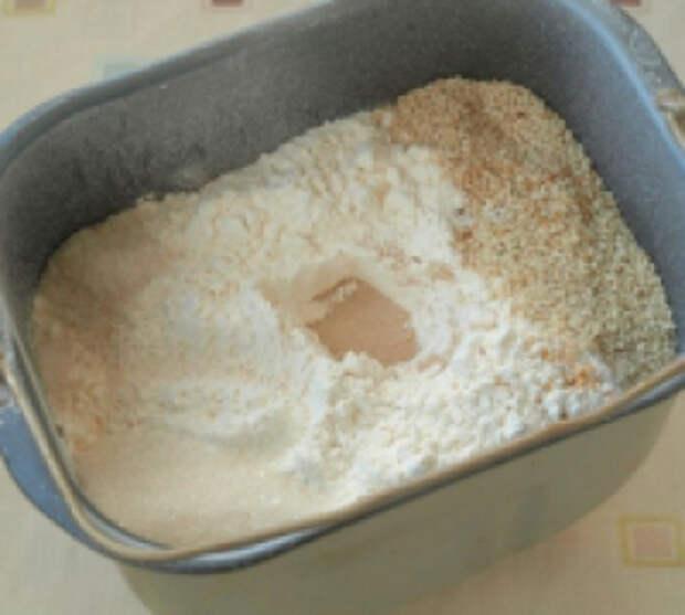 Хлеб на йогурте с кунжутом в хлебопечке