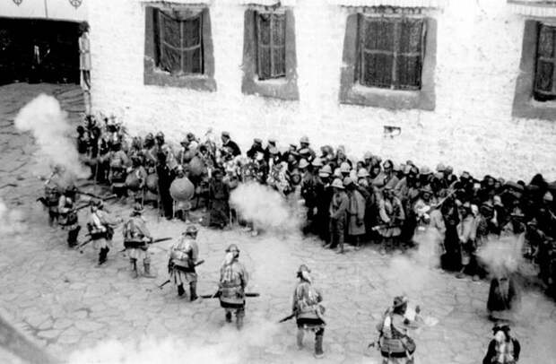 Тибетские воины 19 век.