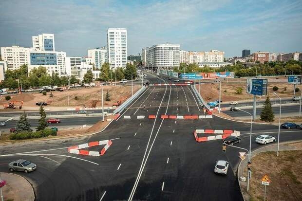 ВУфе открыто движение поновому путепроводу через проспект Салавата Юлаева