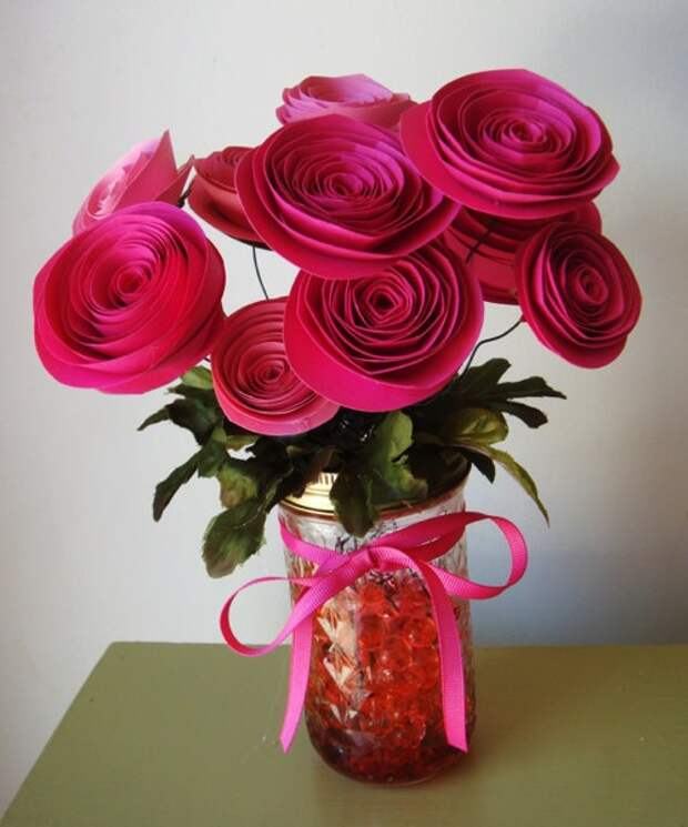 Hot-pink-fuchsia-paper-roses-bouquet (499x600, 85Kb)
