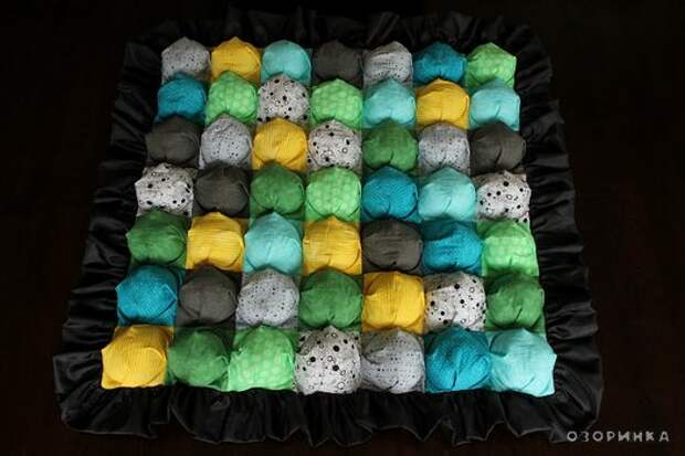 вариант одеяла сшитого своими руками