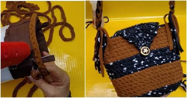 Эффектная сумочка с секретом: безупречная форма + элементарная сборка